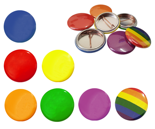 School House Colour Button Badges