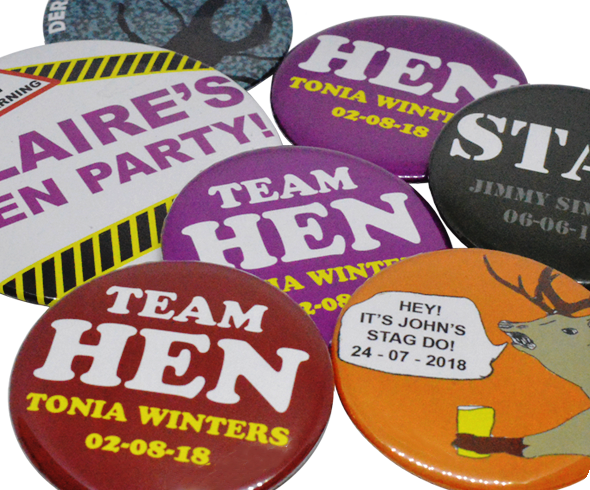 Stag and Hen Badges