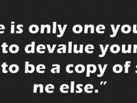 Would you de-value yourself?