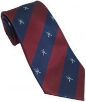 RAF Regiment Motif Crossed Rifle Silk Tie