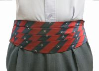 Silk Cummerbund RAF R Crossed Rifles