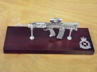 SA80 Large Scale Weapon Plaque