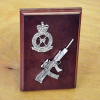 SA80 Small Scale Weapon Plaque
