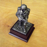 Kneeling Signalman Bronze Figure
