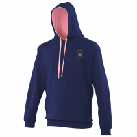Hoodie Oxford Navy/Candyfloss Pink