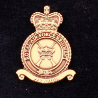 RAF Regiment Bronze Finish Lapel Pin, 30mm Wide