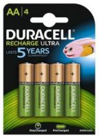 Duracell Recharge Ultra AA 2400 mAh Rechargeable NiMH Batteries
