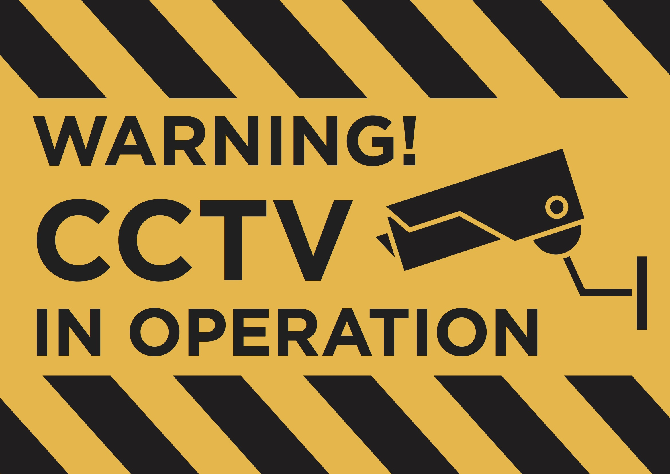 S2 Plastic CCTV in Operation Sign A4 Correx A2 Foamex A3
