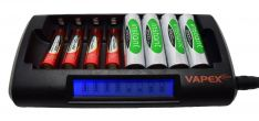 Vapextech 8 Cell AA/AAA Fast Battery Charger