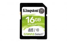 Kingston 16GB Class 10 SDHC memory card