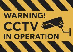 Warning! CCTV In Operation sign