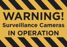 Warning! CCTV In Operation sign