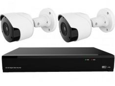 Gamut 2MP HD-TVI 2 Bullet Camera CCTV System