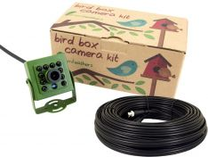 Green Feathers 2MP Wired Bird Box Camera with sound | Wild View Cameras