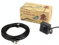 Green Feathers 2MP Wired Bird Box Camera & 20m Cable Kit | Wild View Cameras