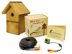 Green Feathers Bird Box & Wired Camera | Wild View Cameras