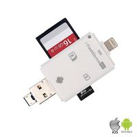 3 in 1 USB/iOS/Android Card Reader