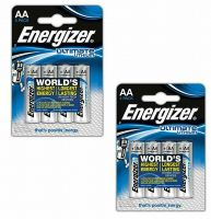 8 Energizer Ultimate Lithium AA Batteries (2 x pk 4)