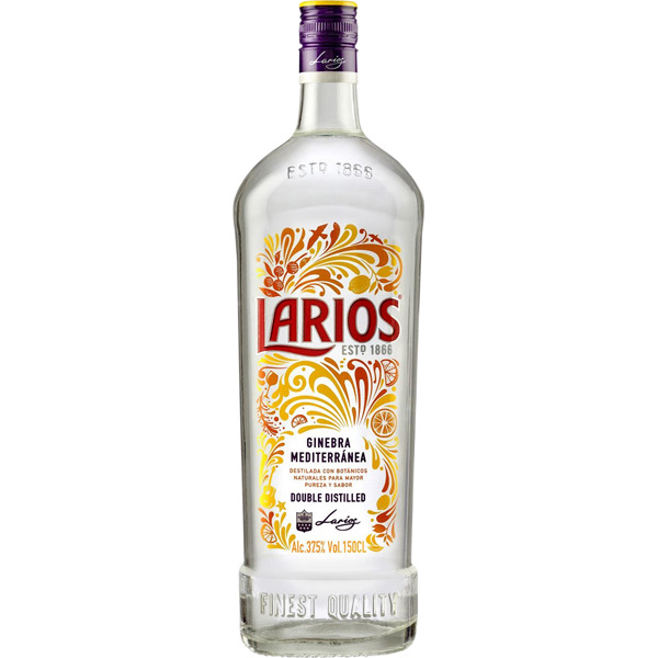 Larios London Dry Gin 40% 1L we are your wine and drinks ...