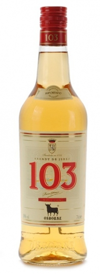 Osborne 103 White label Brandy 70cl 36%alc. by vol.