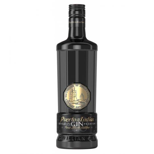 Puerto Indias Gin, Pure Black 40% 70cl