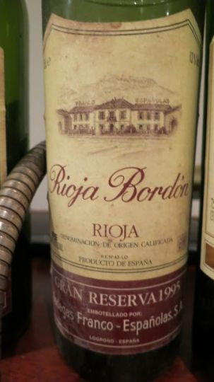 Rioja Bordon Gran Reserva 1995