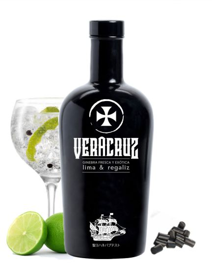 Veracruz Lime & Liquorice Premium Gin 40% 70cl