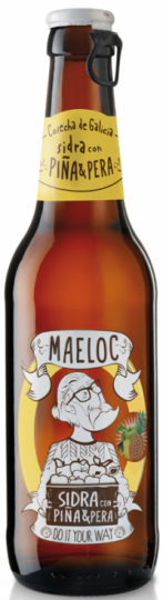 Maeloc Pineapple & Pear Cider 4% (Vegan & Gluten Free) 24 x 330ml case