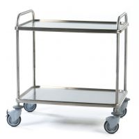Stainless Steel Large 2 Tier General Trolley