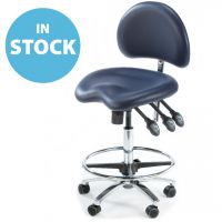 Dark Blue High Contoured Medical Chair (In Stock)