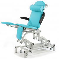 Refurbished Medicare Podiatry Couch with Memory Foam, Foot Switch & Breathing Hole - Diabolo Turquoise