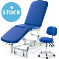 Medicare 3 Section Couch with matching General Medical Chair - Aqua (In Stock)