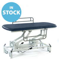 Dark Blue Hydraulic Therapy Hygiene Table with Side Support Rails (In Stock)