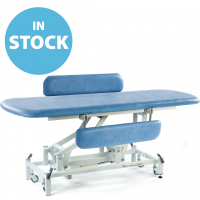 Sky Blue Electric Therapy Hygiene Table with Side Support Rails & Cushions (In Stock)
