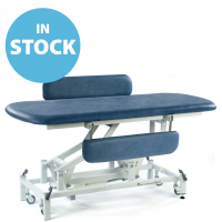 Dark Blue Electric Therapy Hygiene Table with Side Support Rails & Cushions (In Stock)