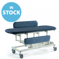 Dark Blue Electric Sterling Changing Table (Short) with Side Support Cushions (In Stock)