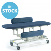 Dark Blue Electric Sterling Changing Table (Long) with Side Support Cushions (In Stock)