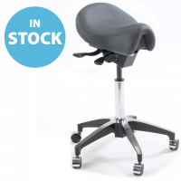 Refurbished Anthracite Deluxe Saddle Stool (In Stock)