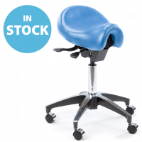 Refurbished Sky Blue Deluxe Saddle Stool (In Stock)