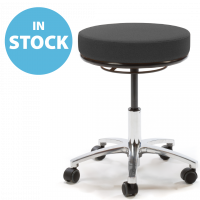 Black Round Medical Stool (In Stock)