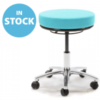 Refurbished Diabolo Turquoise Round Medical Stool (In Stock)