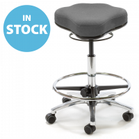 Refurbished Anthracite Dual Curve Medical Stool (In Stock)