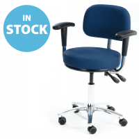 Refurbished Dark Blue General Medical Chair with Armrests (In Stock)