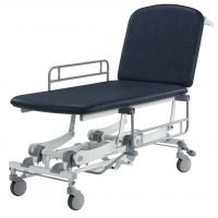 CLINNOVA Mobile 2 Section Couch - Hydraulic - Dark Blue (In Stock)