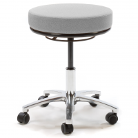 Round Medical Stool - Light Grey (In Stock)