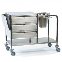 Stainless Steel Plaster Trolley with Bucket