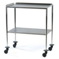 Stainless Steel Lipped Instrument Trolley (90cm x 45cm)