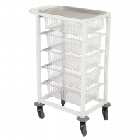 Powder Coated 5 Drawer Mobile Trolley