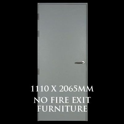 1110 x 2065mm Blank Single Personnel Door (No Fire Exit Hardware)