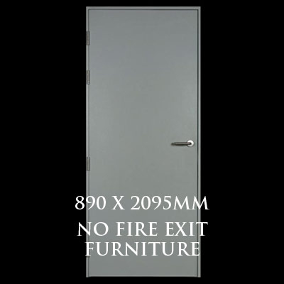 890 x 2095mm Blank Single Personnel Door (No Fire Exit Hardware)